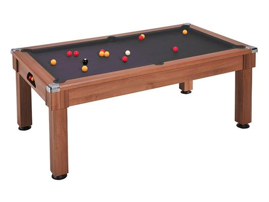 Windsor Pool Dining Table: Walnut - 6ft, 7ft